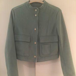 Mint Zara suede crop jacket